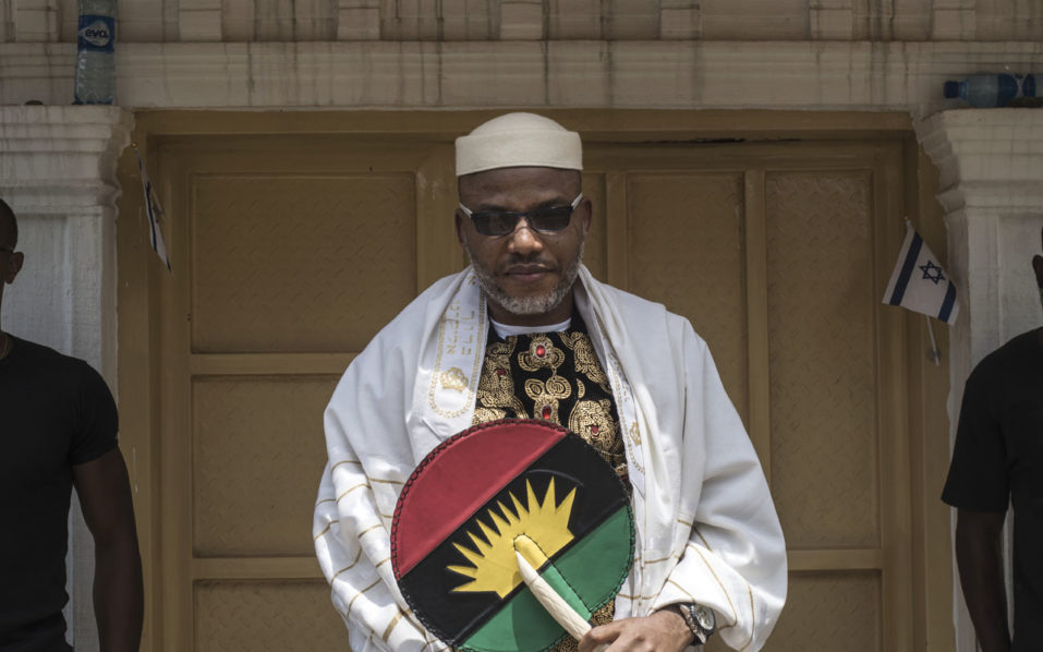 Nnamdi Kanu 1 957x598 - Court issues arrest order for Nnamdi Kanu, revokes bail