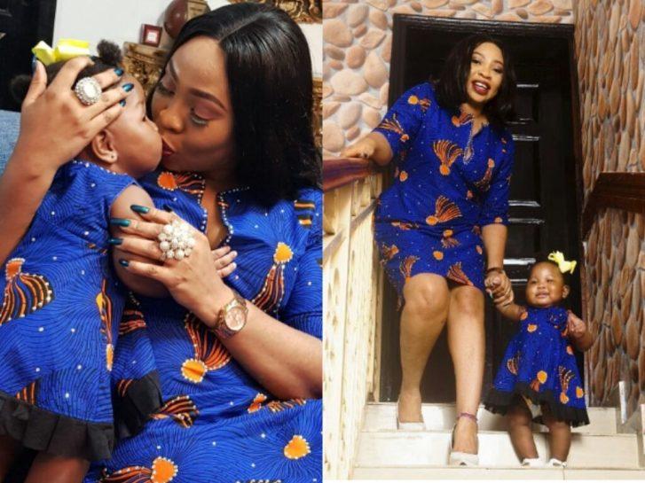 Seyi Law's Wife, Ebere And Daughter, Tiwa Slay In Matching Ankara Outfits - OkayNG News