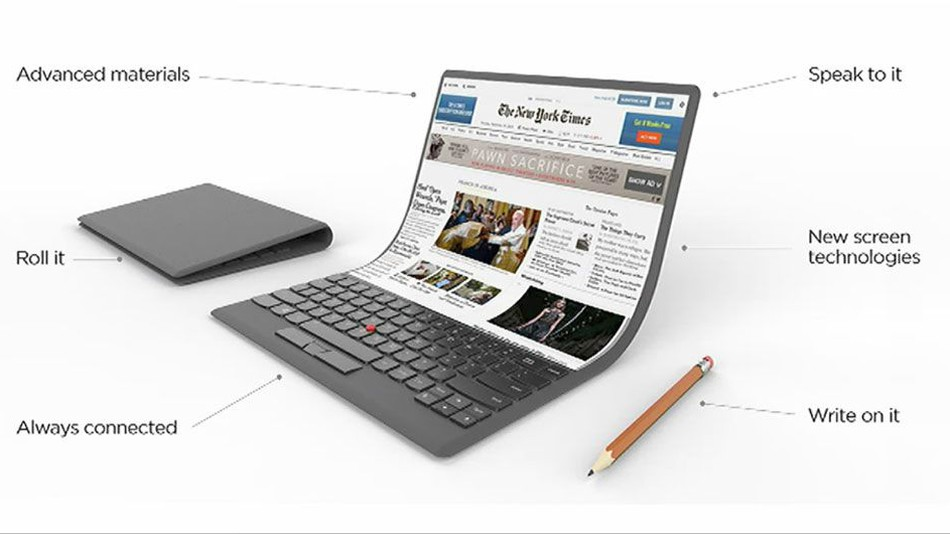 Photo of Lenovo Bendable and Foldable Laptop