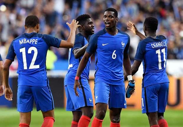 paul pogba kylian mbappe ousmane dembele france 11rbjelj67pqj17s7ggqjjl7dd - Pogba Advices France Youngsters, Mbappe And Dembele