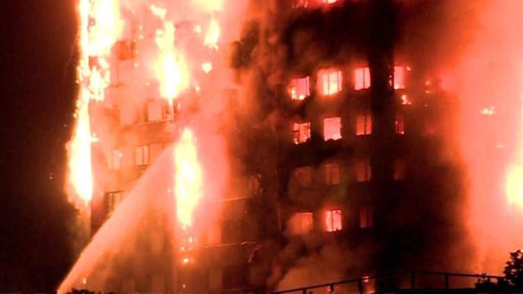 uk fire - 6 Dead, 20 In Critical Conditions As Fire Guts Tower Block In West London
