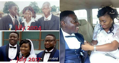 PHOTOS: After 17 Years of Dating, Nigerian Couple Finally Get Married