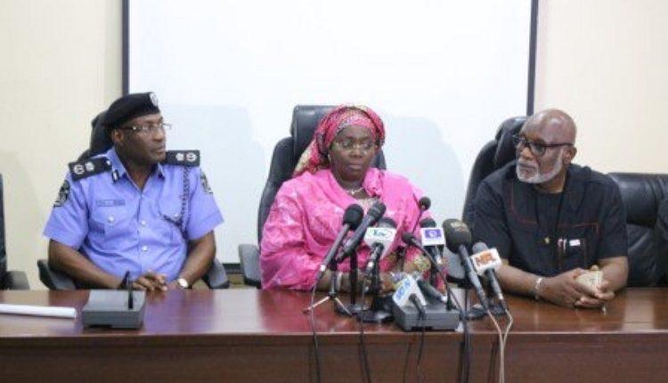 CP Owoseni, Deputy Lagos Gov. Adebule and Gov. Akeredolu of Ondo at the briefing