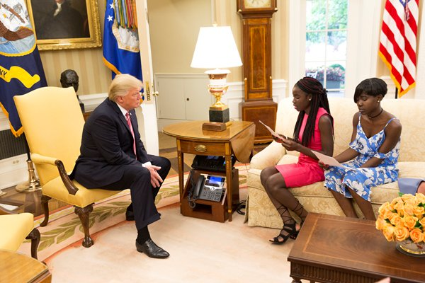 Photo of Here's What Chibok Girls Told Donald Trump During Their Visit To The White House