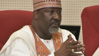 Photo of Dino Melaye reacts as he loses at appeal court