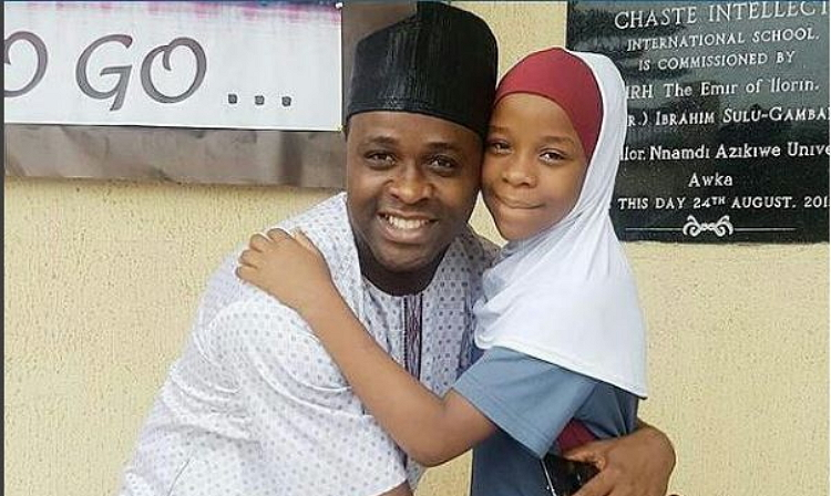 Photo of Nollywood Actor, Femi Adebayo Celebrates First Daughter As She Turns A Year Older