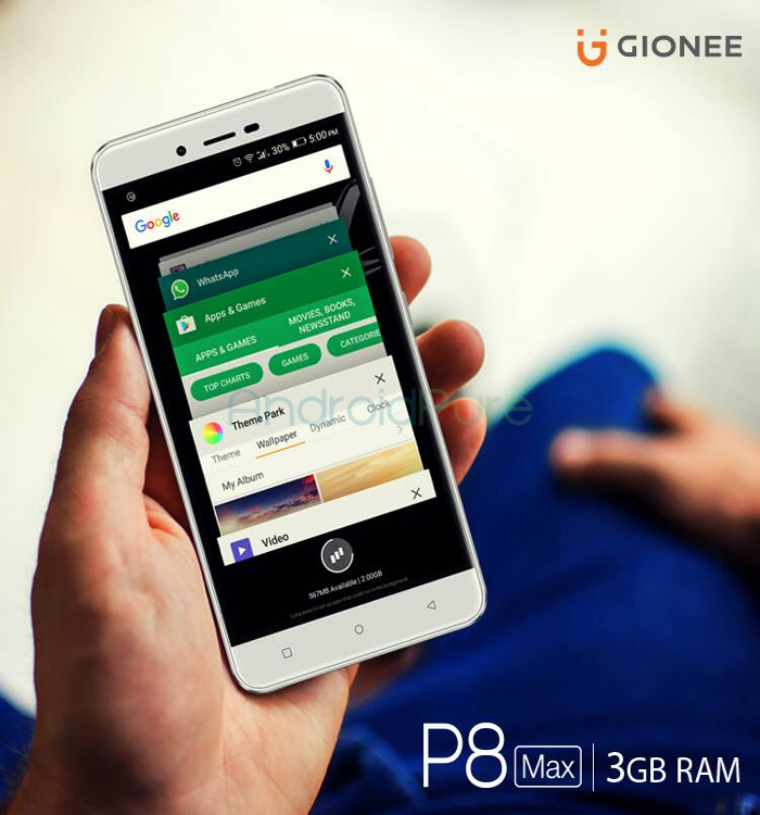 Gionee P8Max RAM - Gionee P8 Max Specifications And Price in Nigeria And India