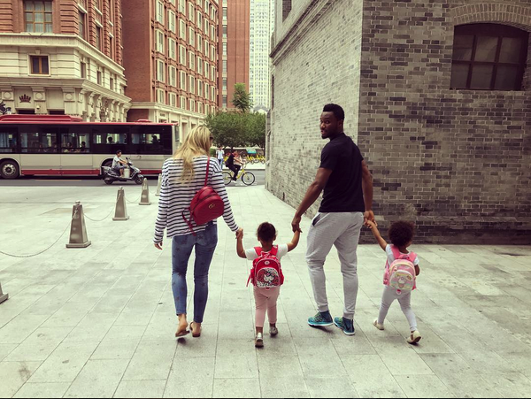 Photo of Mikel Obi And Girlfriend Share Photos As They Accompany Their Twin Daughters to Their First Day In School