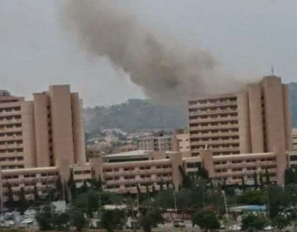 Spark Fire - Electrical Spark Causes Fire Outbreak at Federal Secretariat Abuja