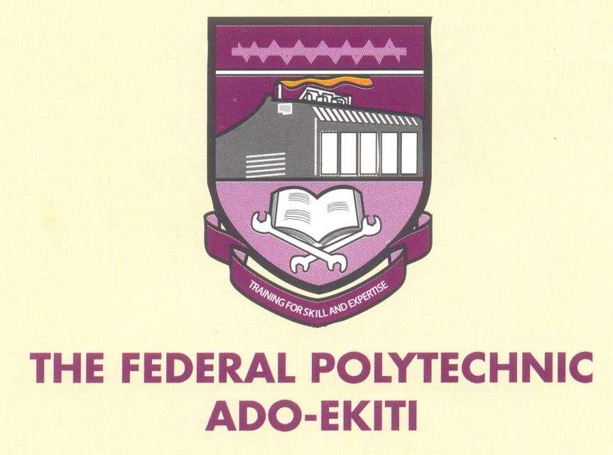 The Federal Polytechnic Ado Ekiti - Fed Poly Ado Ekiti ND Part-time Admission For 2017/2018 Academic Session