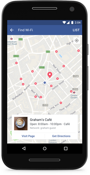 find wi fi android e28093 device e28093 map view - Facebook Add New Feature To Help Users 'Find Wi-Fi' Network