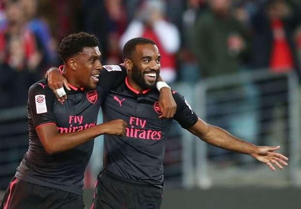 Photo of Lacazette Scores On Arsenal Debut, Thanks Iwobi