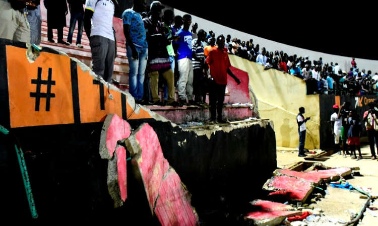 senegal - 8 People Dead As Wall at Stadium Collapses On Supporters In Senegal