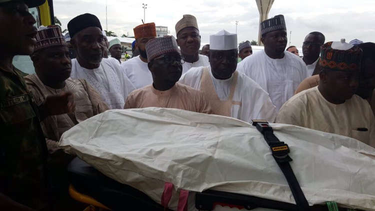 Photo of Late House of Reps Member, Abdullahi Wamakko Buried In Sokoto