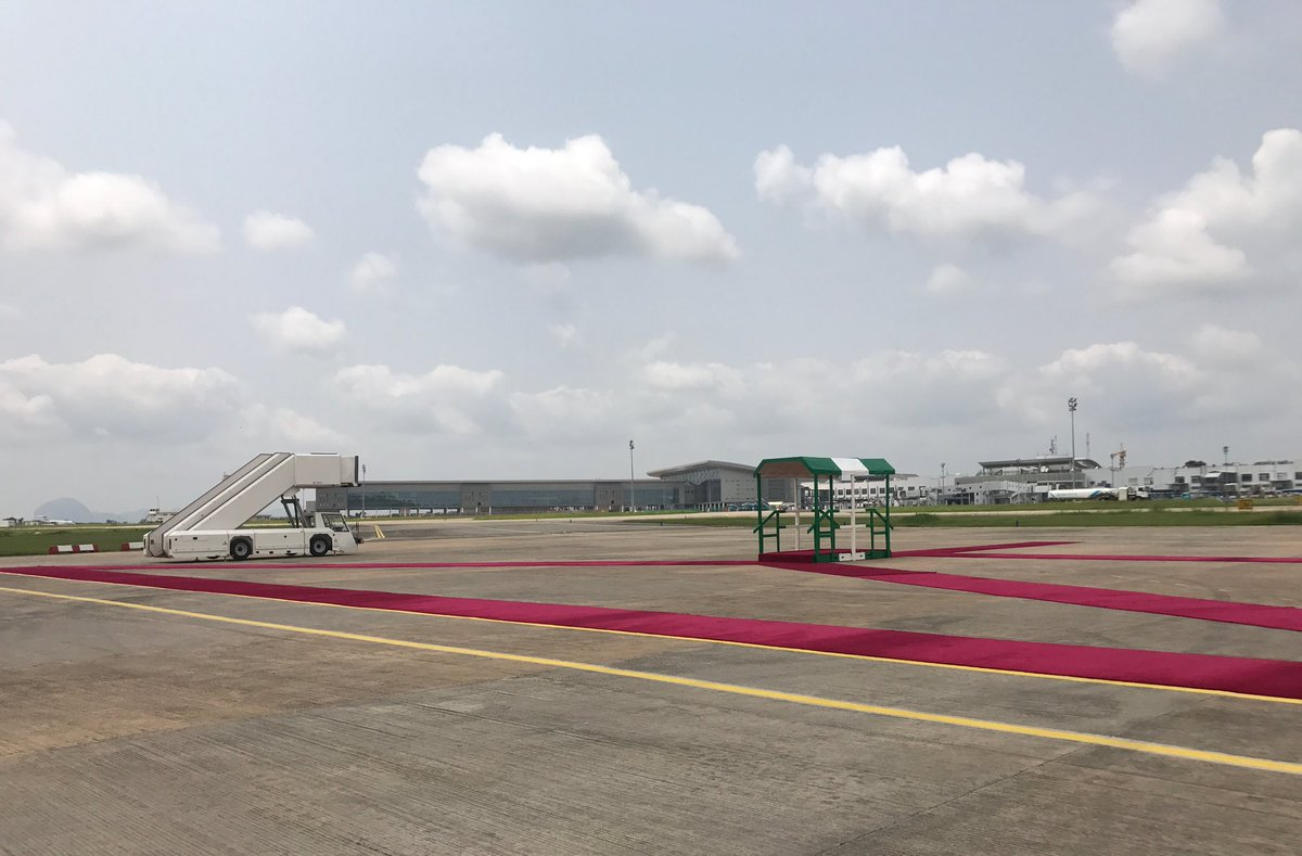 Buhari Return 1 - PHOTOS: Presidential Wing of the Nnamdi Azikiwe International Airport All Set For Buhari's Return