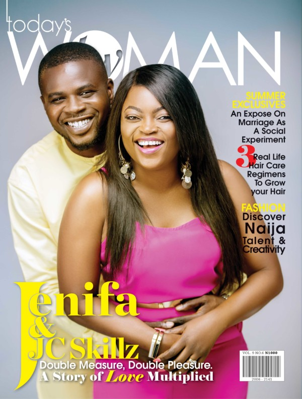 Photo of Funke Akindele And JJC Skillz Cover Latest Edition of Today's Woman Magazine