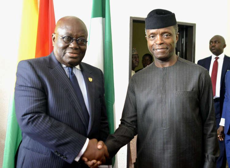 Kuffor Addo of Ghana visitu2019s Presidential Villa in Abuja - Ghana President, Nana Akufo-Addo Visits Osinbajo In Aso Rock
