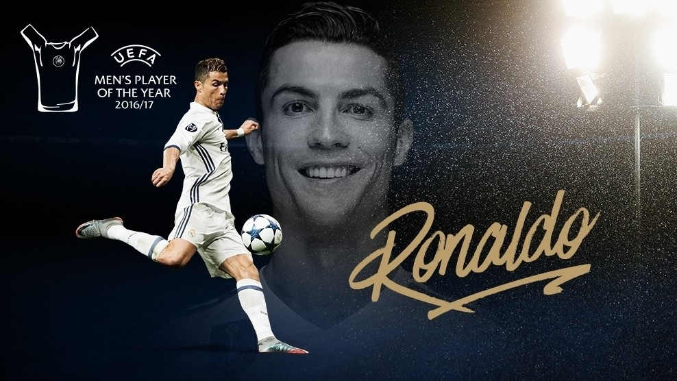 Ronaldo - Cristiano Ronaldo Wins 2016/17 UEFA Men's Player of the Year Award