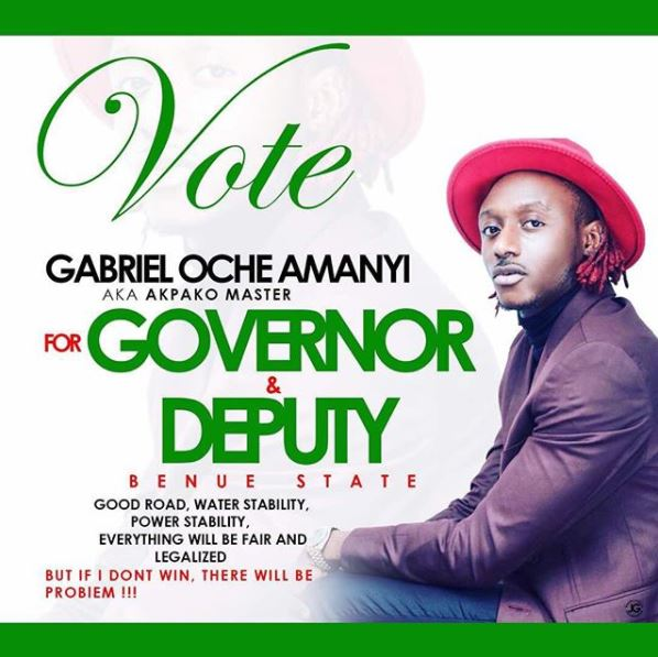 Terry G election - Terry G Has Declared His Intention to Contest For Governor & Deputy Governor of Benue State