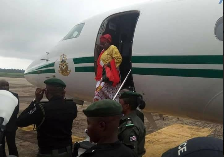aisha women5 - PHOTOS: Aisha Buhari Returns From London, Lands In Owerri