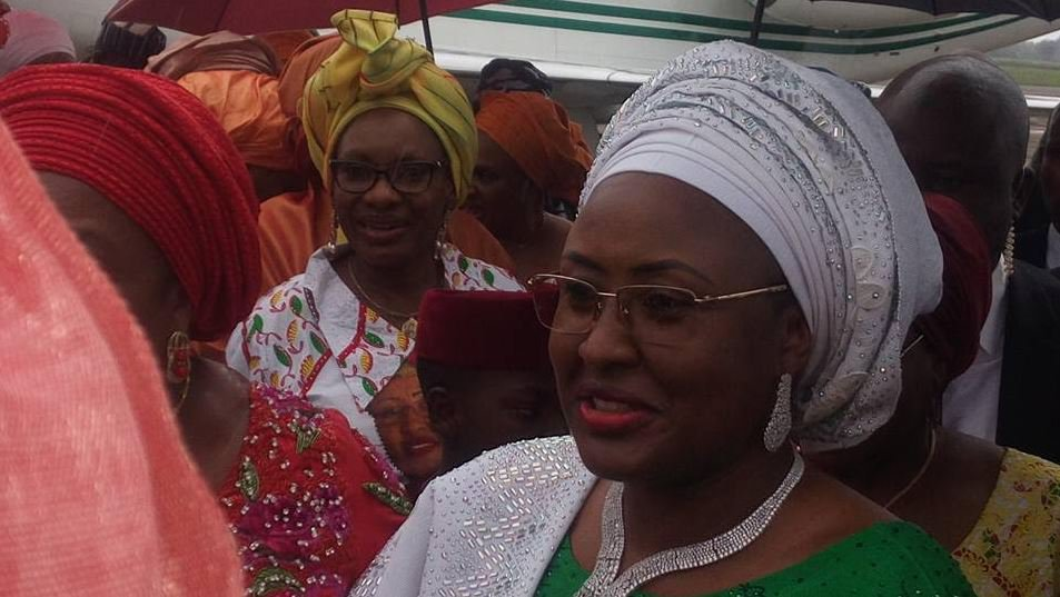 apc women2 - PHOTOS: Aisha Buhari Returns From London, Lands In Owerri