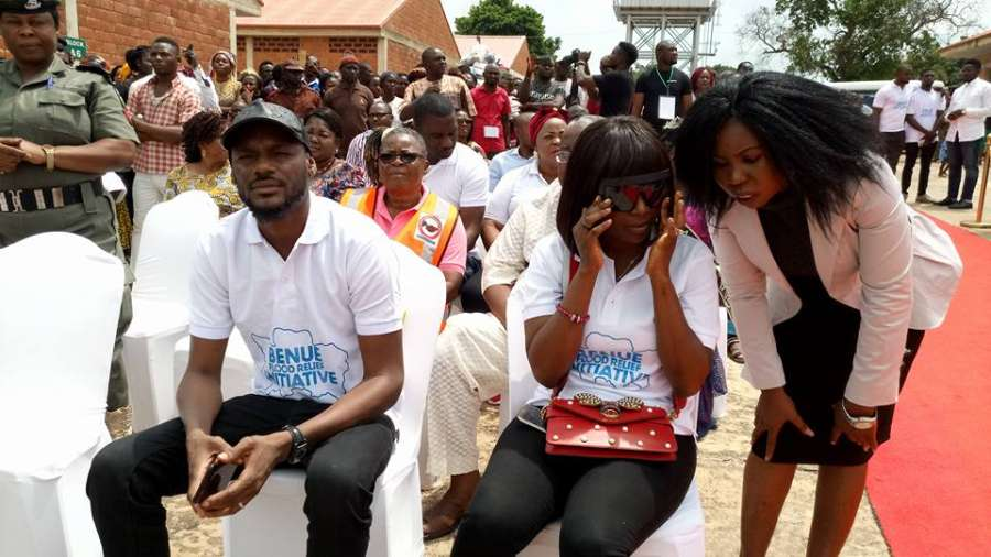 2Baba Official 1 - 2Baba Idibia Visits Makurdi IDP Camp, Donates Relief Materials Following Recent Flood
