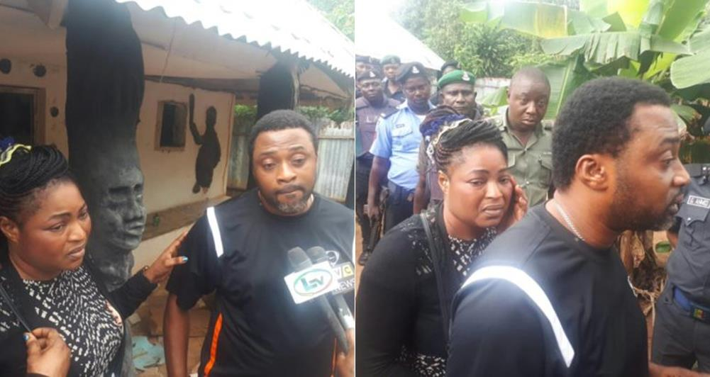 Photo of PHOTOS: Lagos Police Rescues Couple From Ritualist Shrine In Ikorodu