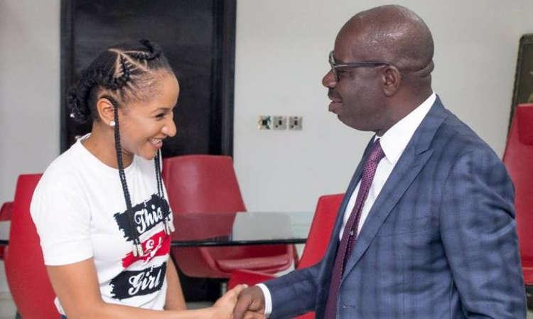 Photo of PHOTOS: Actress Adesua Etomi Pays Courtesy Visit to Governor Obaseki