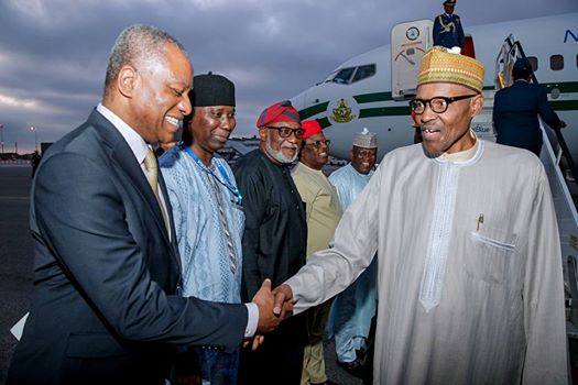 Buhari Arrives New York 1 - PHOTOS: President Buhari Arrives New York For 72nd Session Of The United Nation General Assembly
