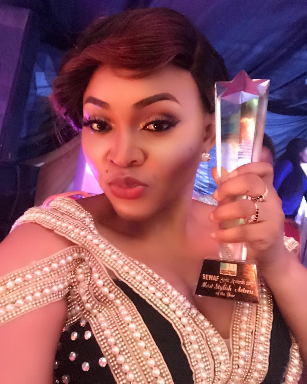 "Photo of Nigerian Actress, Mercy Aigbe Clinch ""Most Stylish Actress Of The Year"" Award"