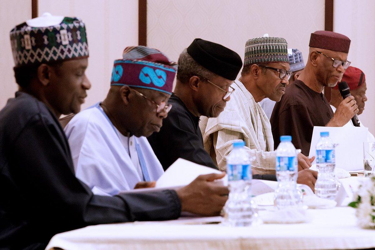 Buhari APC Aso Rock 2 - FULL TEXT: President Buhari's Address at APC NEC Meeting