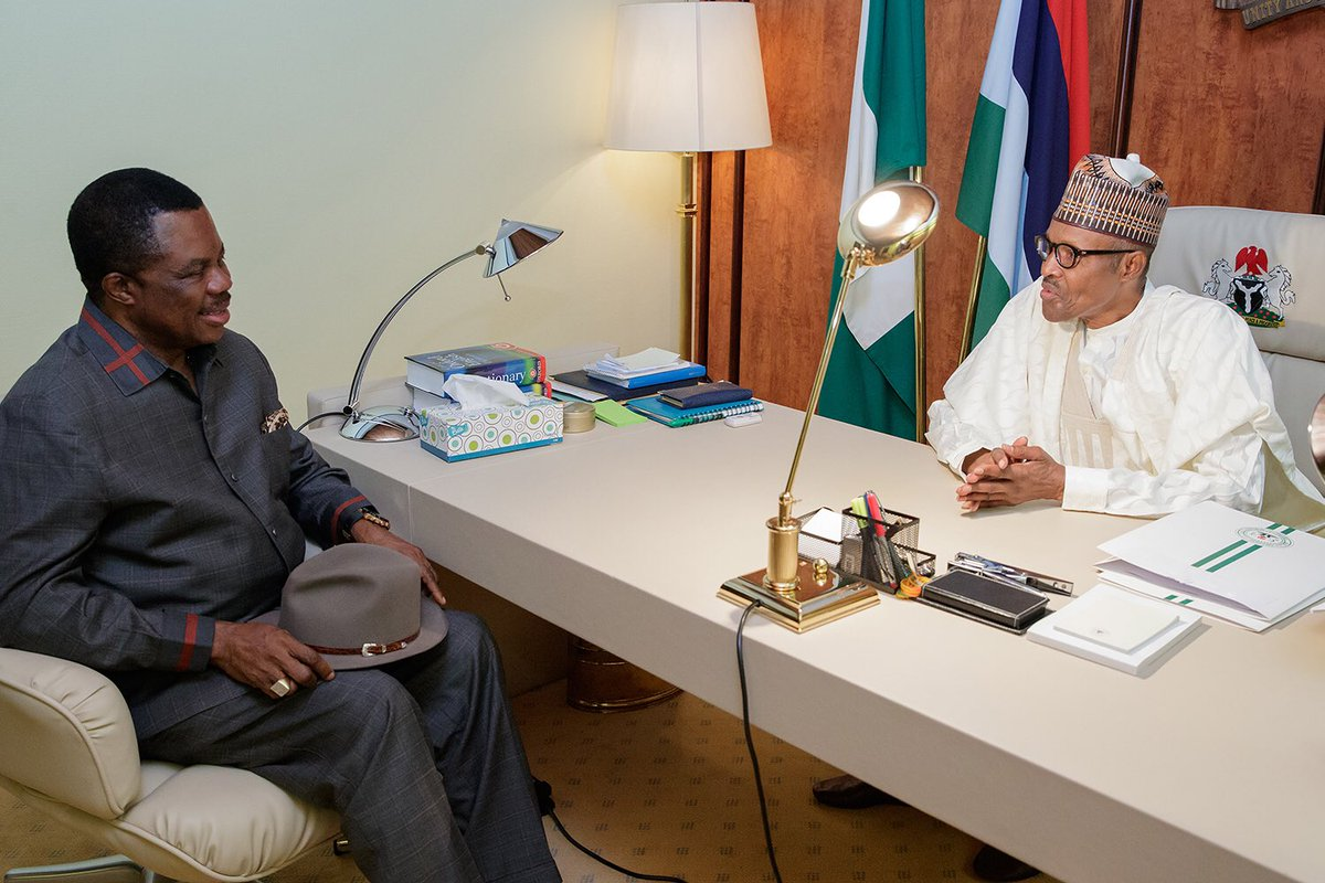Photo of Gov. Willie Obiano Meets with President Buhari Ahead of Anambra Election