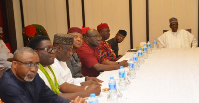Photo of President Buhari Meets South-East Governors, Leaders