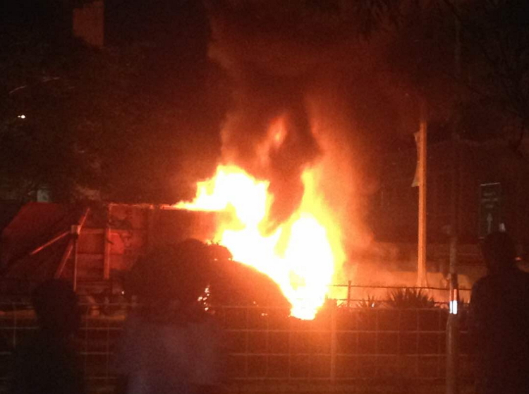 JUST IN! Fire Guts EFCC Office In Abuja - OkayNG News