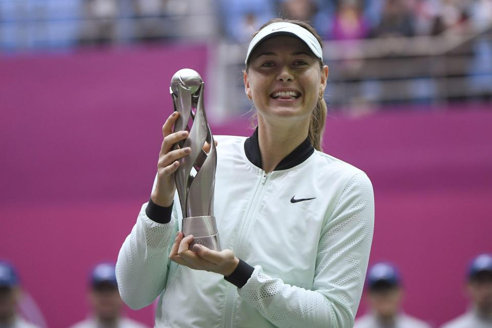Photo of Maria Sharapova defeat Aryna Sabalenka to win first title since drugs ban