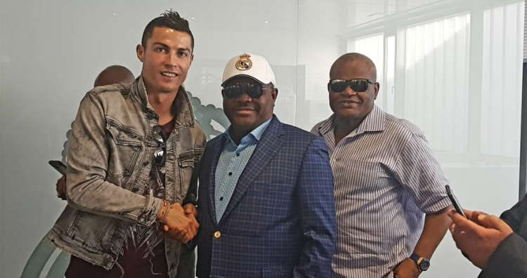 Wike and Christiano Ronaldo shkaes hands when they met on Monday 891x470 - PHOTOS: Gov. Wike Meets Ronaldo, Ramos at Real Madrid Football Club
