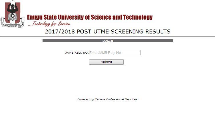ESUT 2017/2018 Post-UTME Result Released