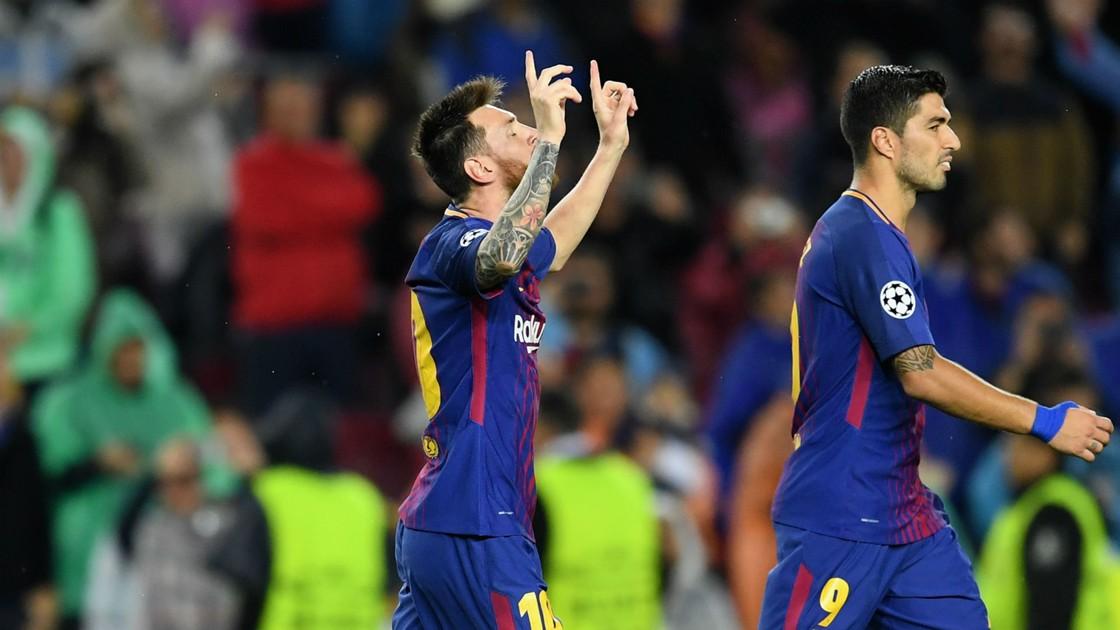 Barcelona 3-1 Olympiacos (UEFA Champions League)