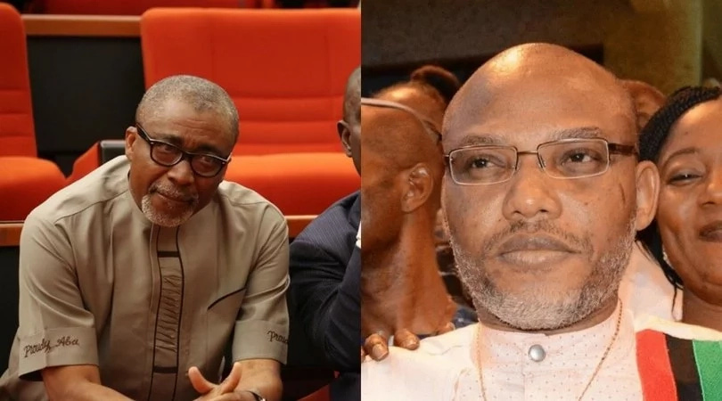 nnamdi kanu abaribe - Court Rejects Senator Abaribe Request to Remove Himself As Nnamdi Kanu's Surety