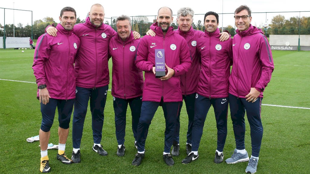 pep man city - Pep Guardiola Wins Premier League Manager Of The Month