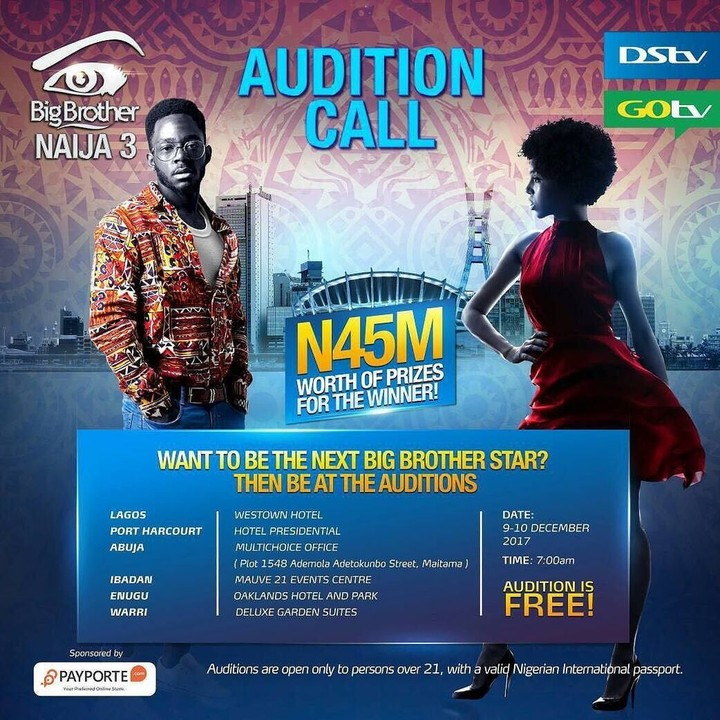 #BBNaija: Big Brother Naija Returns with Third Edition In 2018, Calls For Audition