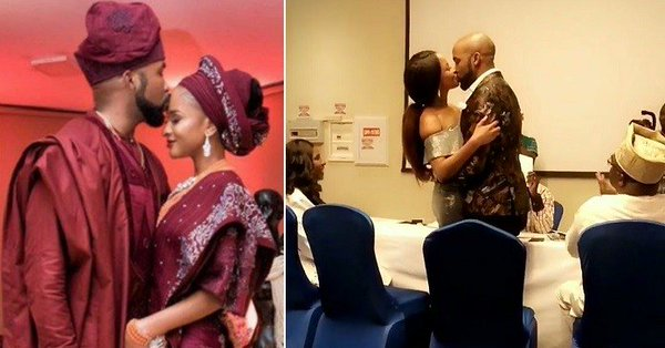 Photo of Adesua Etomi Officially Marries Banky W at Ikoyi Registry (SEE VIDEO)