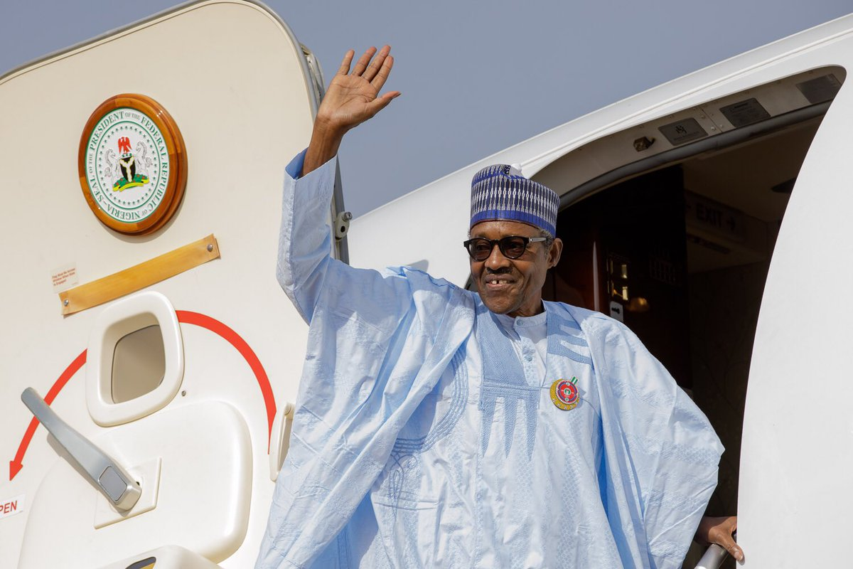 Photo of PHOTOS: President Buhari Departs Abuja for Abidjan to Attend 5th EU-AU Summit