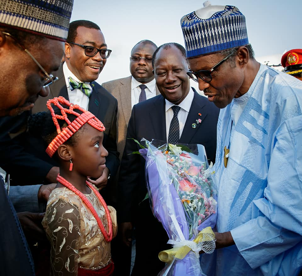 Buhari Arrives Abidjan 1 - PHOTOS: President Buhari Arrives Abidjan Ahead of the 5th AU-EU Summit