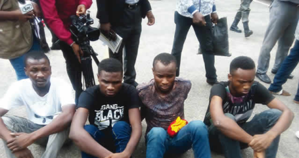 Photo of Burna Boy's Manager Paraded With Armed Robbers Who Attacked Mr 2Kay at Eko Hotels