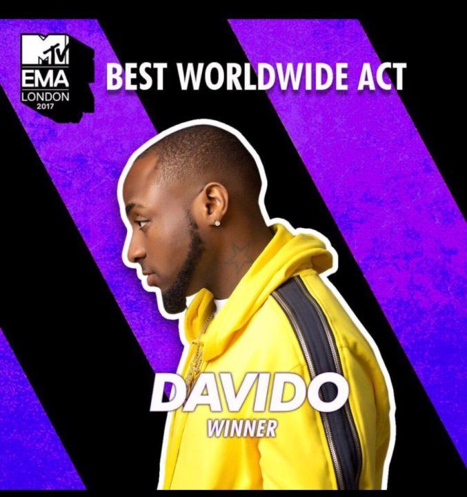 Davido MTV EMAs