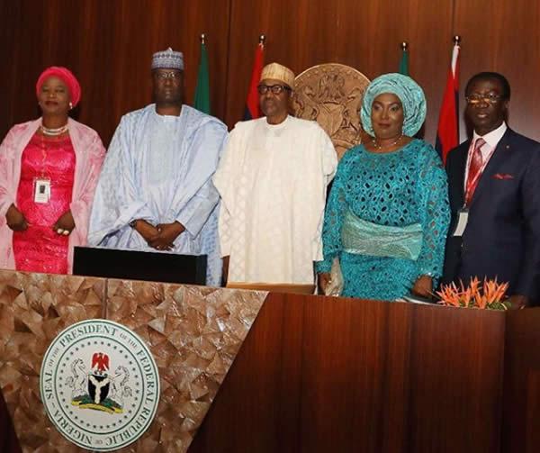 FEC photo3 - PHOTOS: President Buhari Presides Over FEC Meeting As He Swears In Boss Mustapha