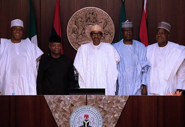 FEC photo5 - PHOTOS: President Buhari Presides Over FEC Meeting As He Swears In Boss Mustapha