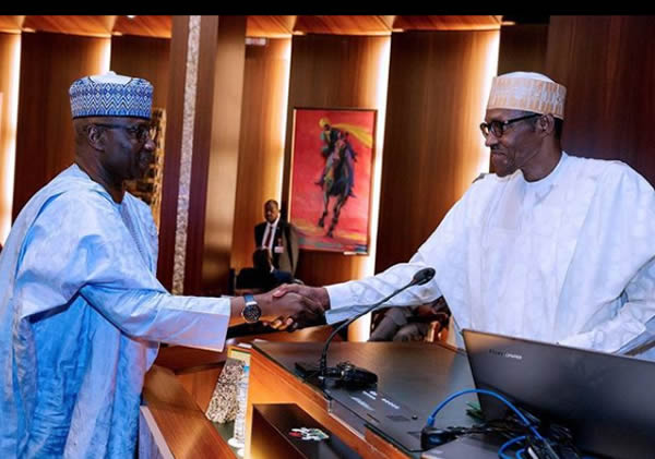 FEC photo7 - PHOTOS: President Buhari Presides Over FEC Meeting As He Swears In Boss Mustapha