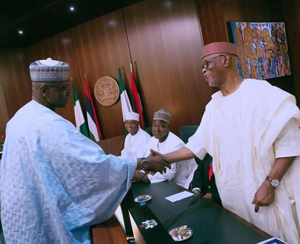 FEC photo8 - PHOTOS: President Buhari Presides Over FEC Meeting As He Swears In Boss Mustapha